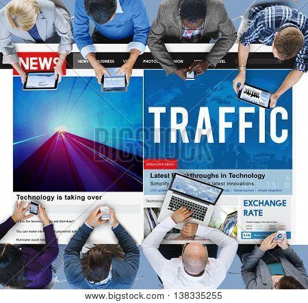 Traffic Transit Transportation Route Direction Concept
