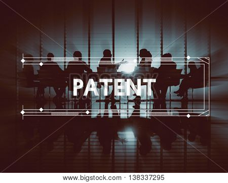 Patent Business Copyright Trademark Brand Concept