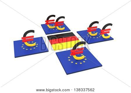 German contribution to the EU 3d illustration