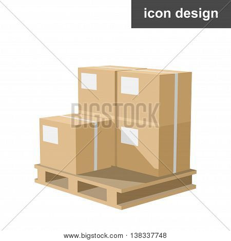 Vector clipart of boxes cargo on pallets