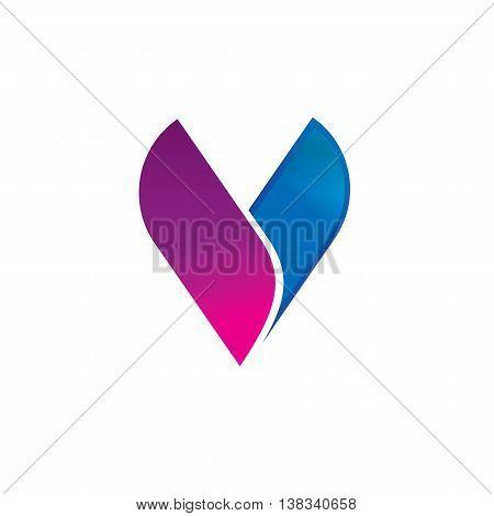 Abstract letter V logo vector template design, elegant geometric logotype isolated on white background, elegance beauty brand identity,