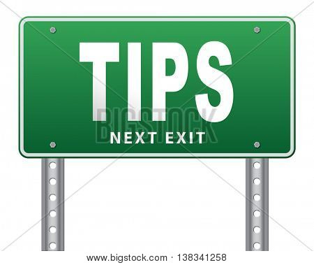 tips helpful tip and trick hot idea clue and user tricks, 3D illustration, isolated, on white