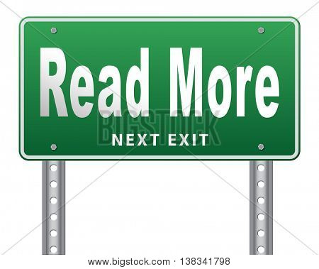 read more details and information road sign bilboard 3D illustration, isolated, on white