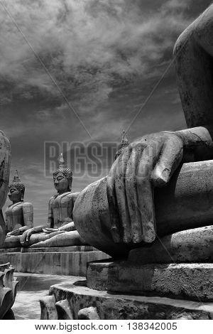 Buddha image in Nakhon Si Thammarat province of Thailand.