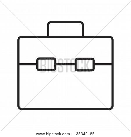 Line icon business bag for documents. Vector illustration.