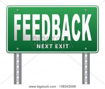 feedback or testimonials or comments for improvement and customer satisfaction 3D illustration, isolated, on white