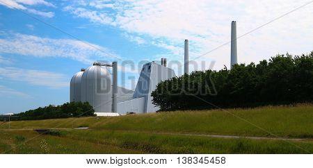 Powerplant in Denmark using oil for production
