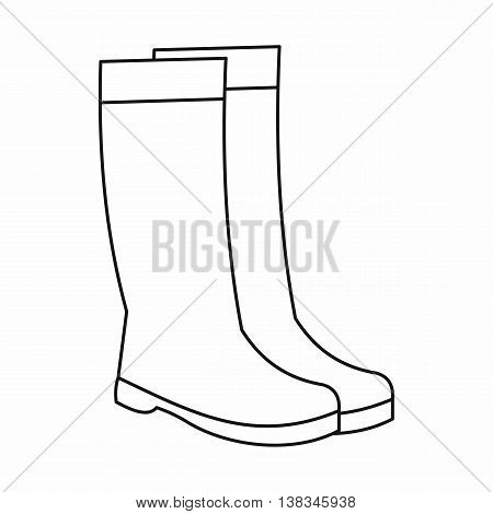 Rubber boots icon in outline style isolated vector illustration