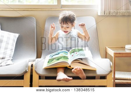 Offspring Toddler Adolescence Cheerful Girl Happy Concept