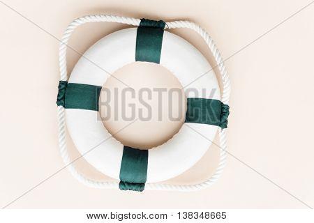 Summer Lifesaving Tube Beach Concept