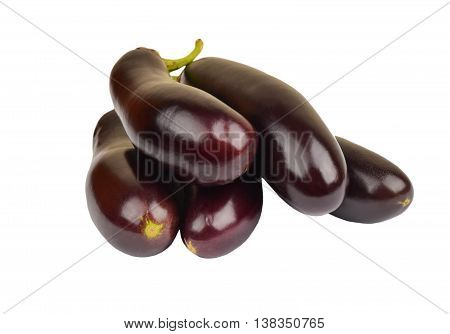Eggplant On White