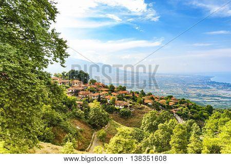 Old Platamonas village tourist destination in the Olympus Mountain region of Greece.