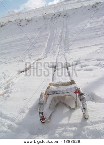Sledge On The Snow