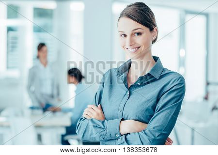 Smiling Female Office Worker Portrait