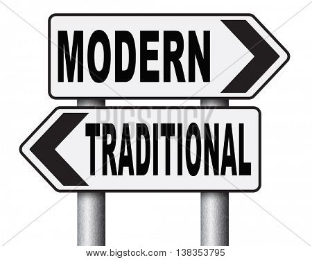 modern or traditional style new or old fashion vintage or new latest hype or fashion road sign 3D illustration, isolated, on white
