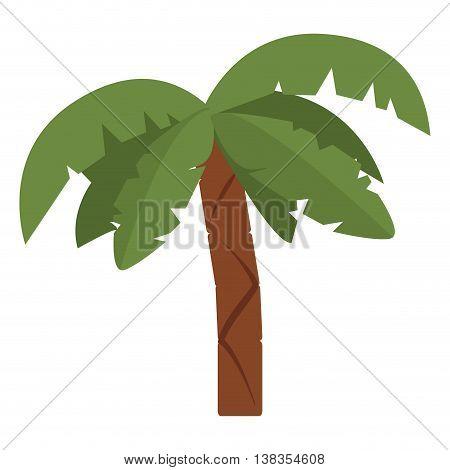 flat design palm tree icon vector illustration