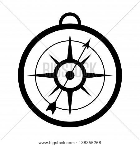 flat desing simple compass icon vector illustration