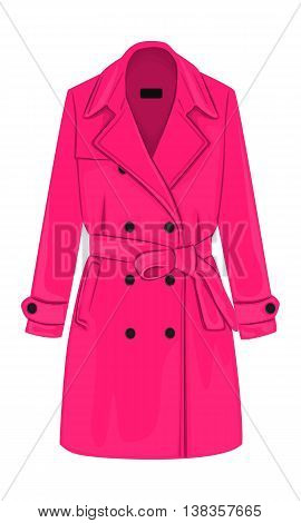 Womens Coat With A Belt
