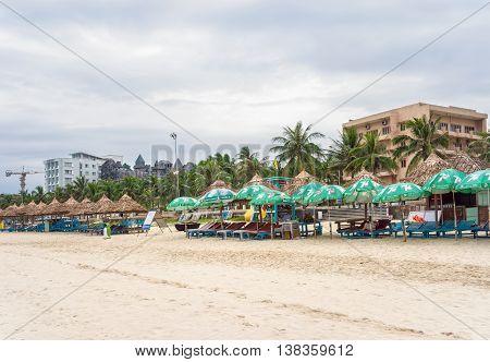 Tourists In The China Beach In Da Nang