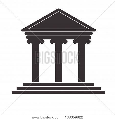 flat design ancient greek building icon vector illustration