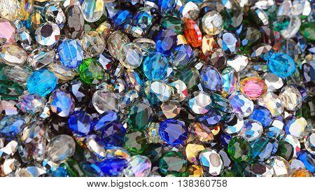 Colorful Decorative Glass Diamonds Cubic Zirconia Pendants