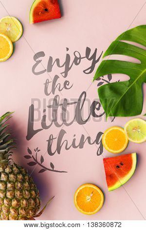 Little Thing Enjoy Being Happiness Simplicity Concept