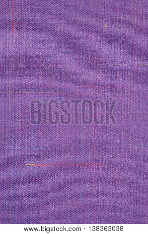 Violet Vintage Tweed Wool Fabric Background Texture Pattern, Large Detailed Vertical Textured Macro Closeup, Purple, Yellow, Blue, Red, Green Stripe Mixture Detail, Rough Casual Style Textile