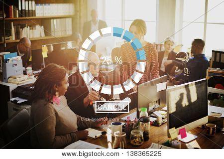 Loading Download Upload Percent Indicator Concept