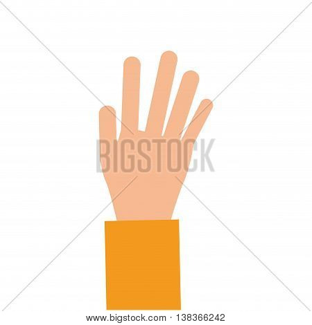 flat design open hand icon vector illustration