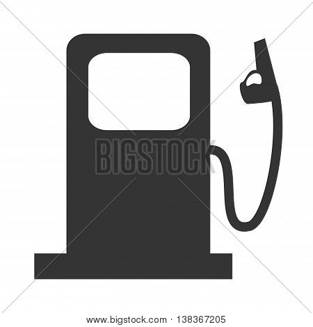 Energy and pollution icon in black and white , vector illustration graphic design.