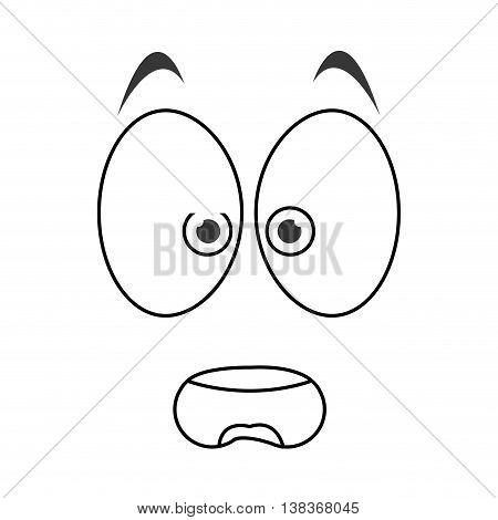 flat design surprised emoticon face icons vector illustration