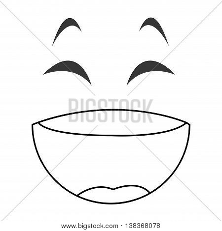 flat design laughing emoticon face icons vector illustration