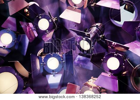 Abstract photo of colorful reflectors