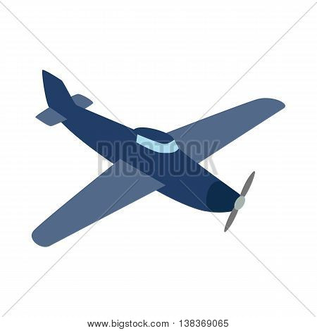 Blue plane icon isolated on white background. Air transport symbol