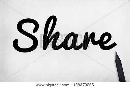 Share Sharing Networking Social Network Concept