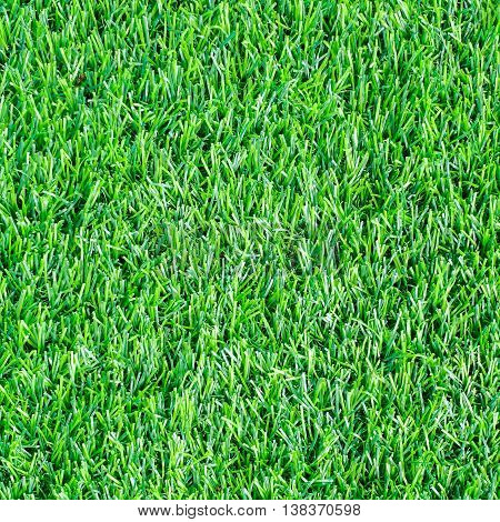 Close up football field with g grass background