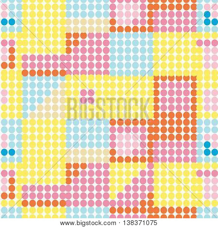 Seamless Pattern Of Colored Circles With Yellow Shades. Vector Illustration