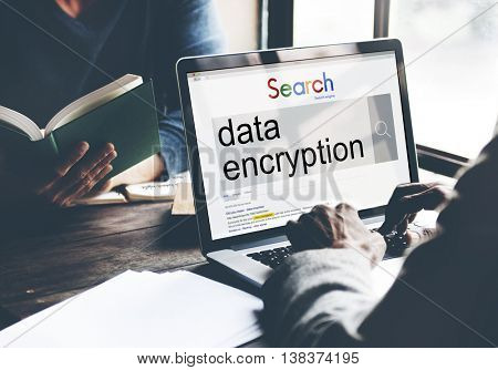 Data Encryption Searching Technology Digital Concept