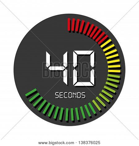 Time and clock isolated flat icon, vector illustration graphic.