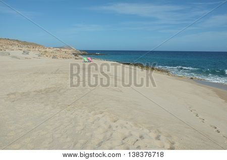 Chairs on beach, San Jose del Cabo, Baja California Sur, Mexico