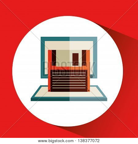 technology office information isolated, vector illustration eps10
