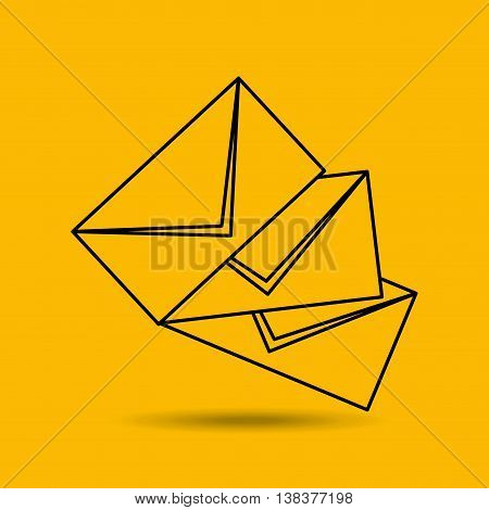 letter mail desing isolated, vector illustration eps10