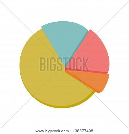 Graphic statistics showing probability, isolated flat icon vector illustration.