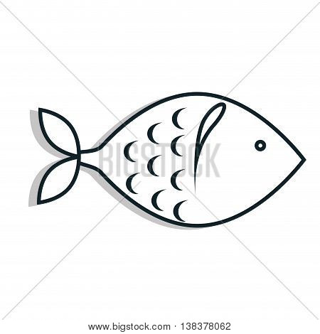 Seafood Foodstuff isolated flat icon in black and white colors, vector illustration.