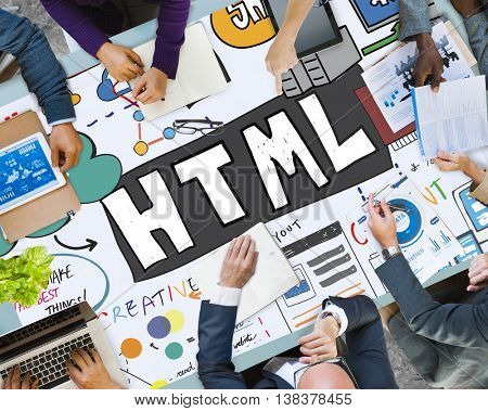 HTML Internet Computer Coding Website Network Concept