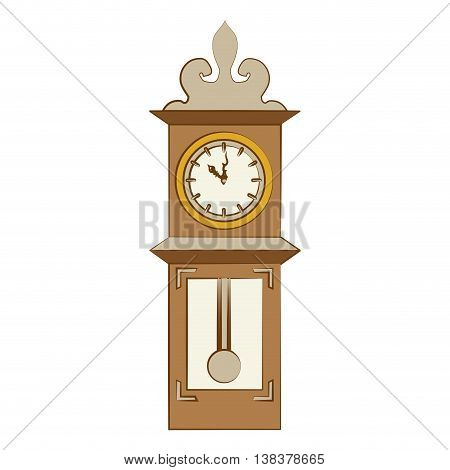 Time and clock vintage style, isolated flat line icon vector illustration graphic.