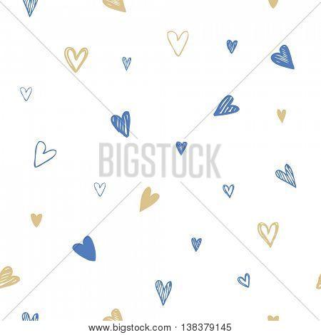 Hearts - seamless pattern