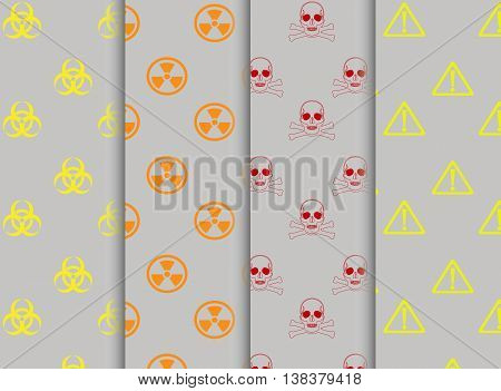 Vector - Collection of warning signs seamless pattern
