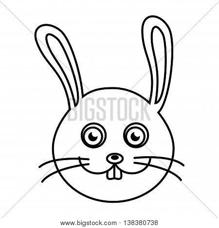 Rabbit cute pet graphic design, vector illustration isolated icon.