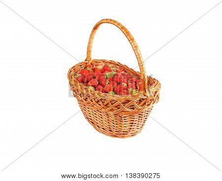 Strawberry In A Wattled Basket